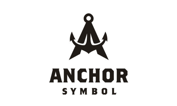 Print on Demand: Initial Letter a Anchor Boat Ship Logo Graphic Logos By Enola99d