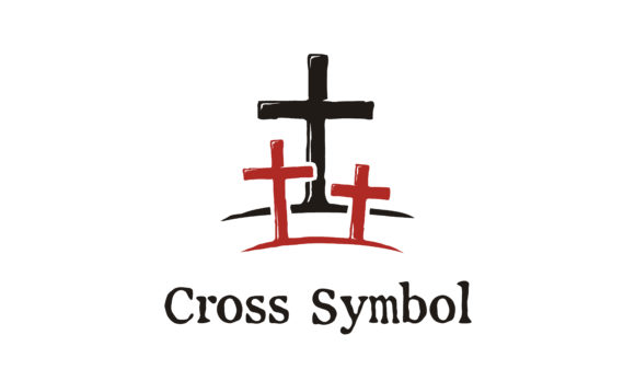Print on Demand: Jesus Cross Tomb with Two Thieves Logo Graphic Logos By Enola99d