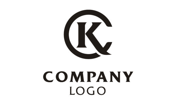 Download Free Kc Ck Initials Monogram Letters Logo Graphic By Enola99d for Cricut Explore, Silhouette and other cutting machines.