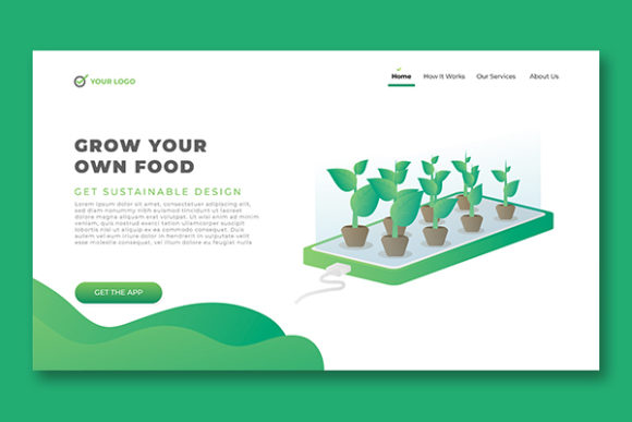 Landing Page Internet of Things Theme Graphic Landing Page Templates By salmanalfa