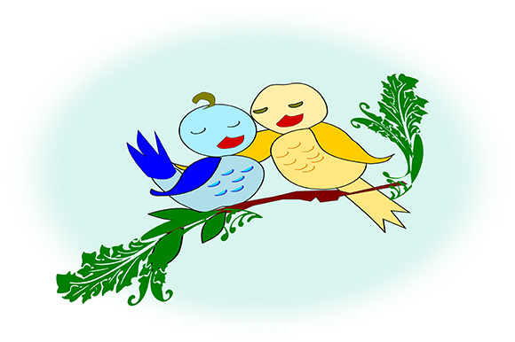 Print on Demand: Love Birds Graphic Animals By arts4busykids