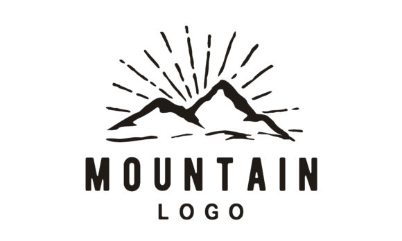 Print on Demand: Mountain Adventure Vintage Hipster Logo Graphic Logos By Enola99d