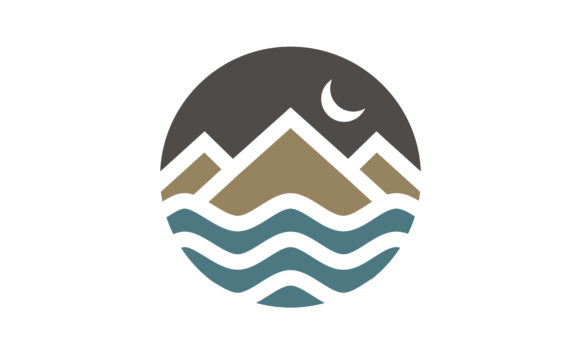 Download Free Mountain Island Sea Moon Adventure Logo Graphic By Enola99d for Cricut Explore, Silhouette and other cutting machines.