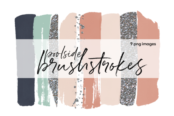 Poolside Brushstrokes Graphic Illustrations By KA Designs