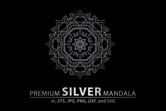 Premium Silver Mandala Vector Pattern Graphic By Redsugardesign