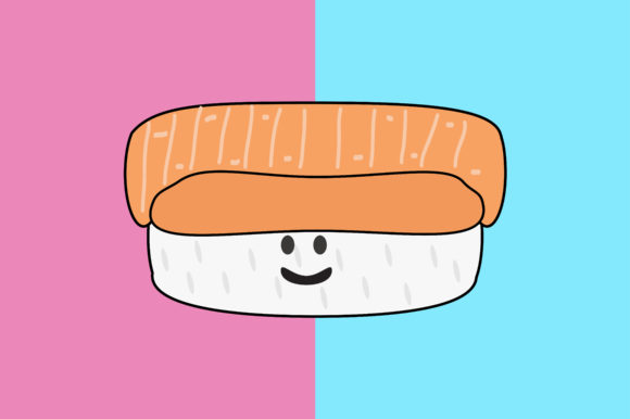 Download Free Rice And Sushi Kawaii Cute Illustration Graphic By Purplebubble for Cricut Explore, Silhouette and other cutting machines.