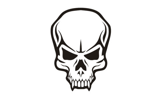 Print on Demand: Scary Tattoo Skull Skeleton Horror Logo Graphic Logos By Enola99d