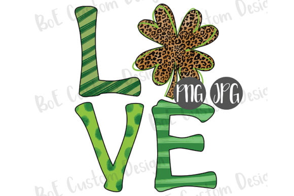 Print on Demand: Shamrock Love St. Patrick's Day Clipart Graphic Illustrations By boecustomdesign