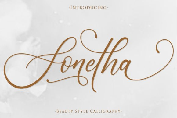Print on Demand: Sonetha Script & Handwritten Font By Gilar Studio - Image 1