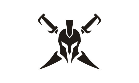 Download Free Spartan Warrior Helmet Sword Armor Logo Graphic By Enola99d for Cricut Explore, Silhouette and other cutting machines.