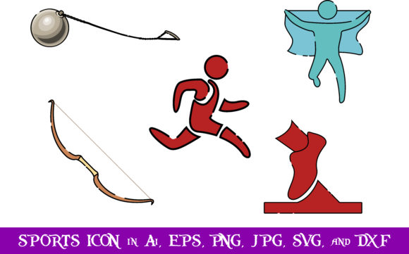 Download Free Sports Icon Bundle Graphic By Purplespoonpirates Creative Fabrica for Cricut Explore, Silhouette and other cutting machines.