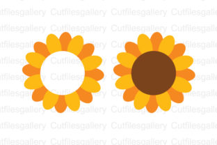 Download Free Sunflower Monogram Graphic By Cutfilesgallery Creative Fabrica for Cricut Explore, Silhouette and other cutting machines.