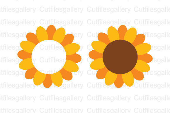 Sunflower Monogram   Graphic Crafts By cutfilesgallery