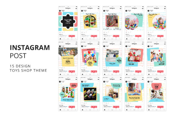 Download Free Toys Gift Shop Instagram Post Banner Graphic By Formatikastd for Cricut Explore, Silhouette and other cutting machines.