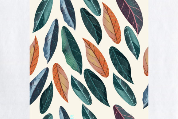 Download Free Tropical Vector Pattern Colored Leaves Graphic By Fleurartmariia for Cricut Explore, Silhouette and other cutting machines.