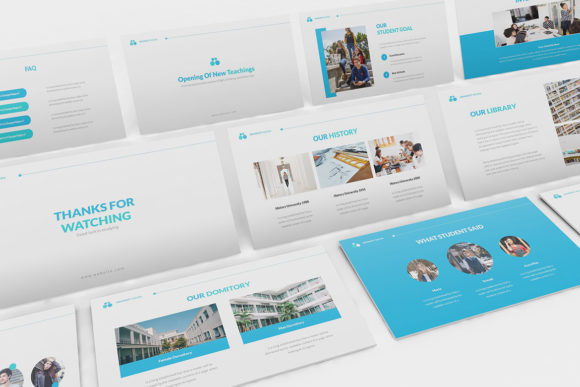 University Powerpoint Template Graphic Presentation Templates By formatikastd
