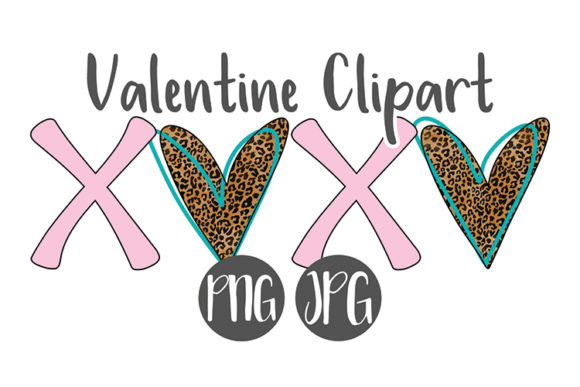 Print on Demand: Valentine XOXO Heart Clipart Graphic Illustrations By boecustomdesign