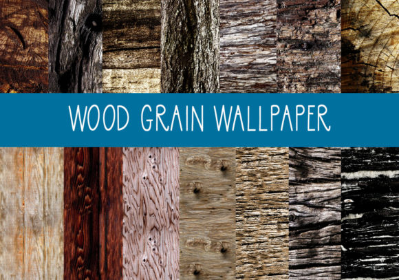 Print on Demand: Wood Grain Backgrounds Graphic Backgrounds By capeairforce