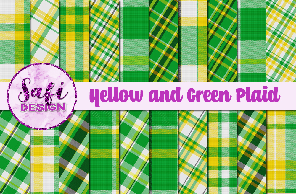 Download Free Yellow And Green Plaid Backgrounds Graphic By Safi Designs for Cricut Explore, Silhouette and other cutting machines.