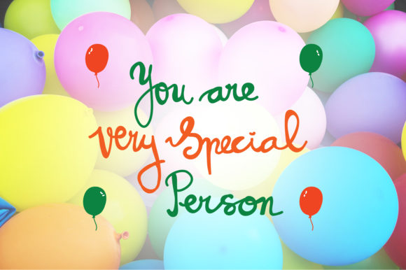 Download Free You Are Very Special Person Quotes Graphic By Wienscollection for Cricut Explore, Silhouette and other cutting machines.