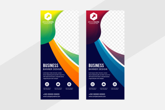 Print on Demand: Colorful Vertical Banner Graphic Graphic Templates By noory.shopper
