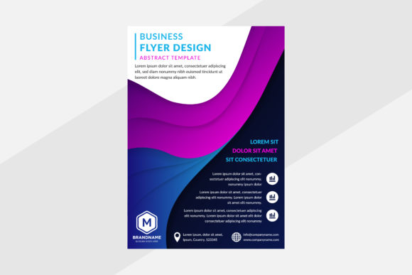 Download Free Dark Blue Background Flyer Fluid Graphic By Noory Shopper SVG Cut Files