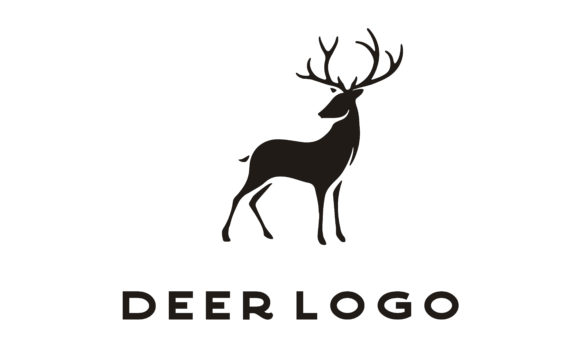 Download Free Deer Buck Stag Reindeer Silhouette Logo Graphic By Enola99d for Cricut Explore, Silhouette and other cutting machines.