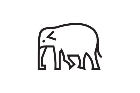 Download Free Elephant Logo Vector Graphic By Riduwan Molla Creative Fabrica for Cricut Explore, Silhouette and other cutting machines.