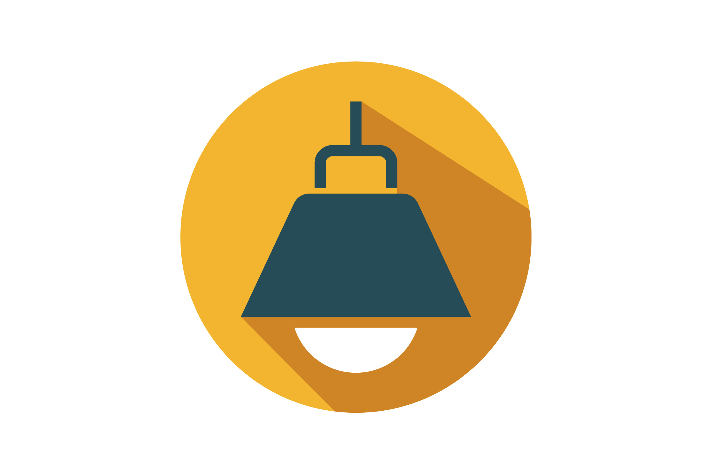 Download Free Hanging Bulb Flat Icon Vector Graphic By Riduwan Molla for Cricut Explore, Silhouette and other cutting machines.