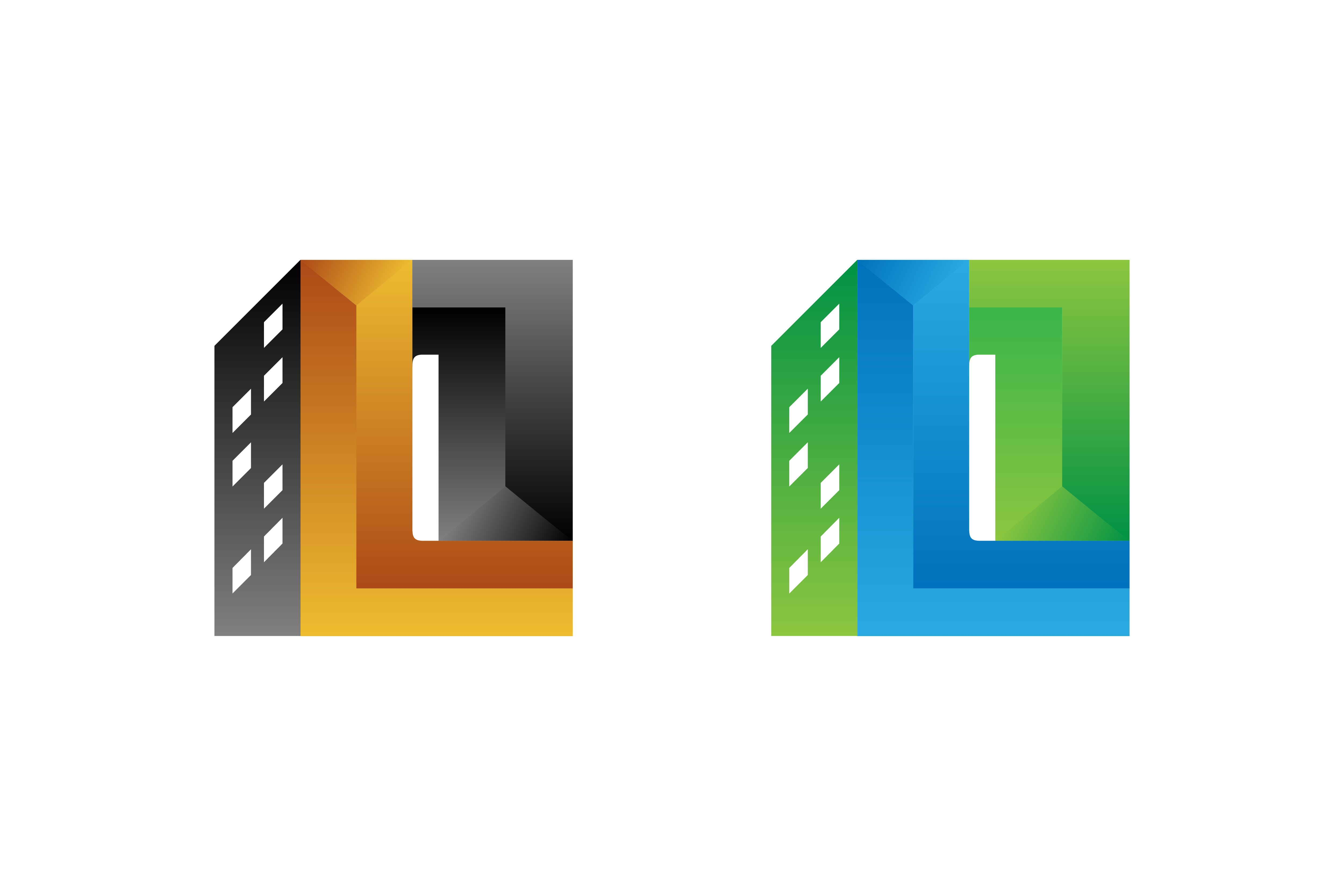 l letter 3d logo building graphic by noory shopper creative fabrica creative fabrica