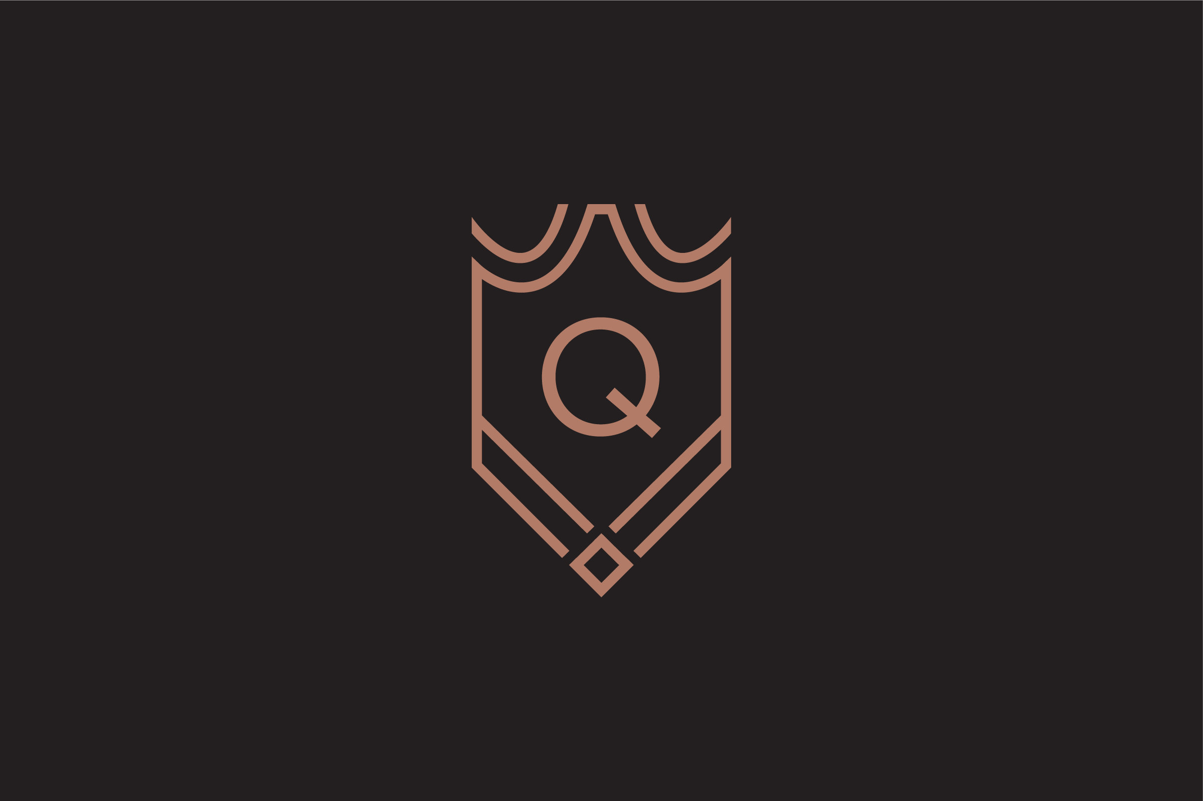Download Free Luxury Q Letter Logo Graphic By Riduwan Molla Creative Fabrica for Cricut Explore, Silhouette and other cutting machines.