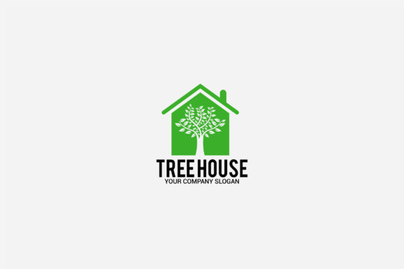Download Free Tree House Logo Graphic By Shazdesigner Creative Fabrica for Cricut Explore, Silhouette and other cutting machines.