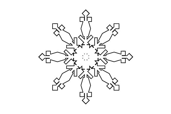 Download Free Snowflake Svg Cut File By Creative Fabrica Crafts Creative Fabrica SVG Cut Files