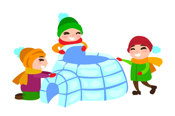 Kids Building Igloo Winter Craft Cut File By Creative Fabrica Crafts
