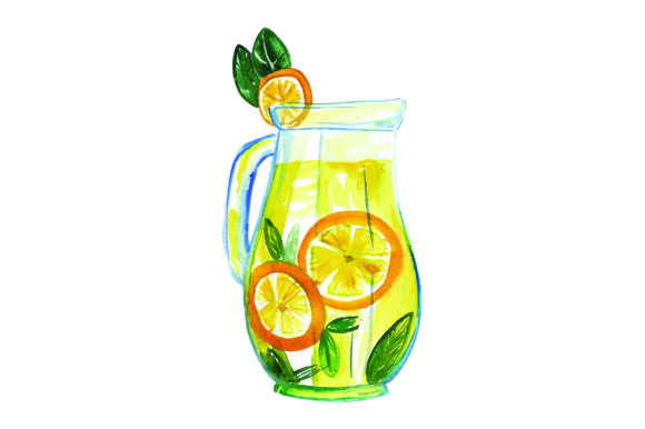 Download Free Pitcher Of Lemonade Watercolor Svg Cut File By Creative Fabrica for Cricut Explore, Silhouette and other cutting machines.
