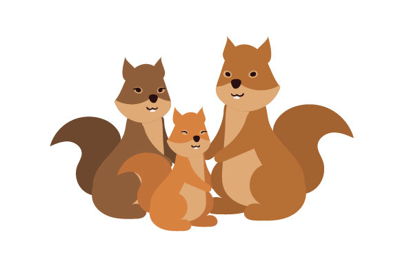 Download Free Squirrel Family Svg Cut File By Creative Fabrica Crafts for Cricut Explore, Silhouette and other cutting machines.