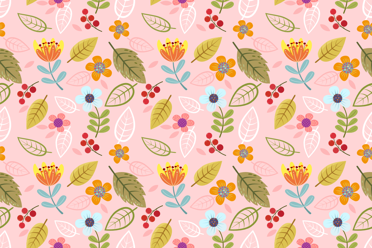 Download Free Abstract Flowers And Herbs Pattern Graphic By Ranger262 for Cricut Explore, Silhouette and other cutting machines.