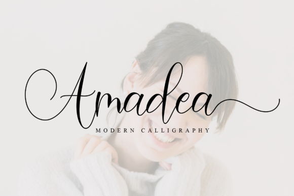 Print on Demand: Amadea Script & Handwritten Font By NissaStudio