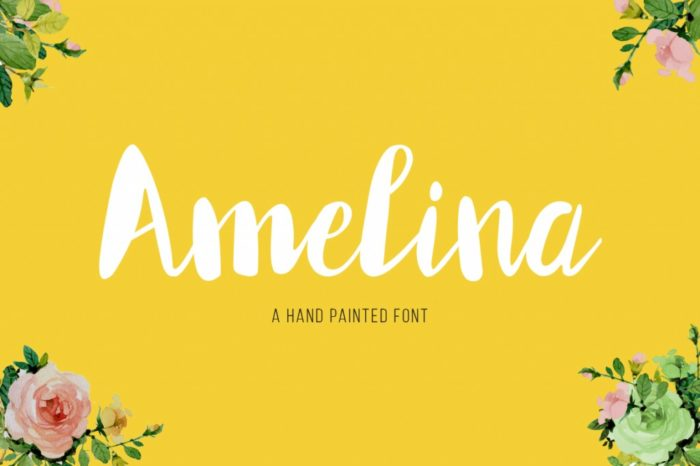 Download Free Amelina Font By Wowok Prast Creative Fabrica for Cricut Explore, Silhouette and other cutting machines.