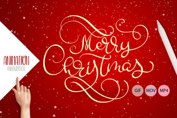 Animation Hand Drawn Merry Christmas Graphic Illustrations By Happy Letters