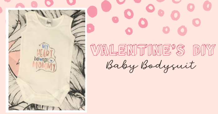 white baby bodysuit quote with heart