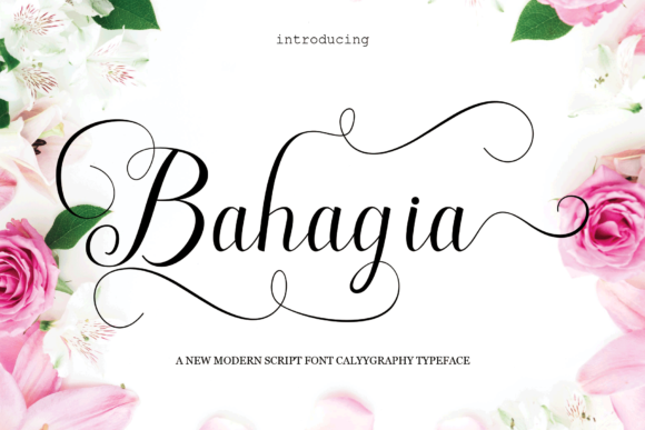 Print on Demand: Bahagia Script & Handwritten Font By MYdesign