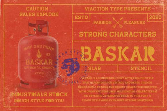 Print on Demand: Baskar Display Font By Viaction Type.Co