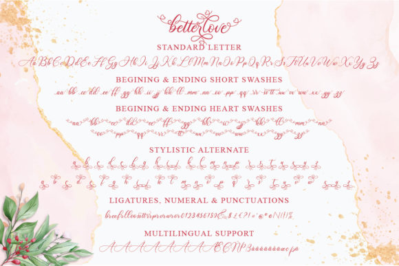 Print on Demand: Betterlove Script & Handwritten Font By Almeera Studio - Image 10