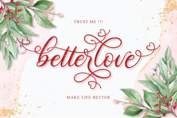 Print on Demand: Betterlove Script & Handwritten Font By Almeera Studio - Image 13
