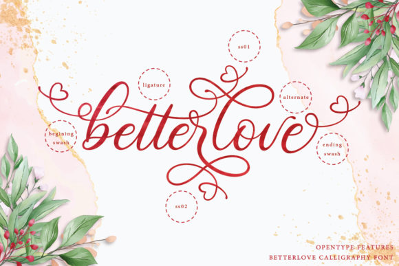 Print on Demand: Betterlove Script & Handwritten Font By Almeera Studio - Image 6