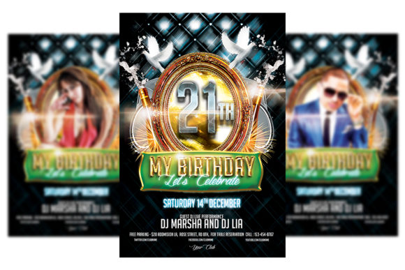 Print on Demand: Birthday Party Flyer Template Graphic Print Templates By Matthew Design