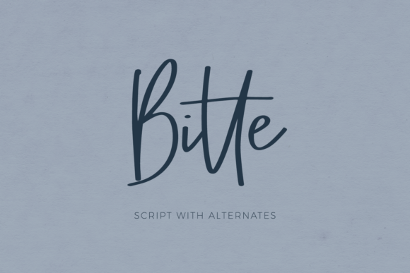Print on Demand: Bitte Script & Handwritten Font By BeckMcCormick