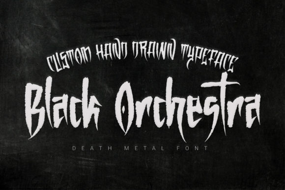 Print on Demand: Black Orchestra Blackletter Font By 38.lineart
