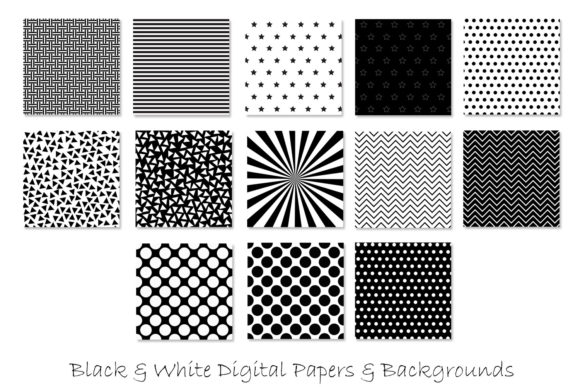 Black and White Patterns Graphic Download